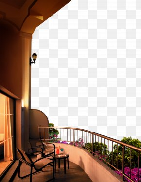 Real Estate Balcony Landscape - Balcony Poster PNG