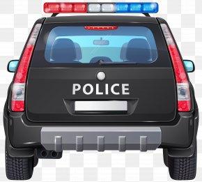 Police Car Back Clip Art Image - Police Car Clip Art PNG
