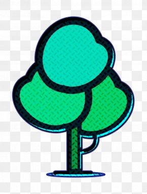Symbol Tree Icon - Cartoon Nature Background PNG