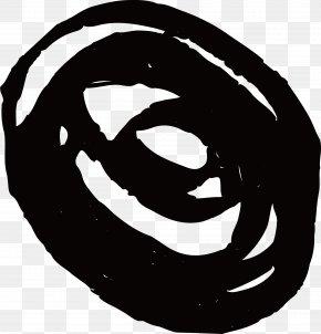 Black Circle Graffiti Brush - Black And White Drawing PNG