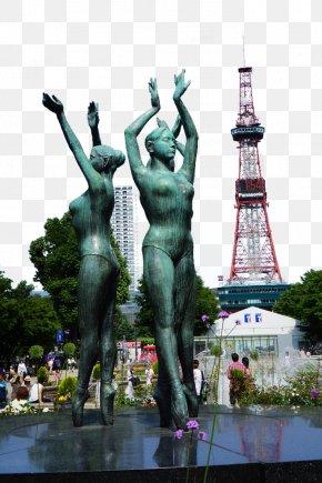 Hokkaido Odori Park Sculpture - Sapporo TV Tower Odori Park Statue Sculpture PNG