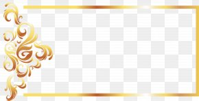 Gold Line Border European Vector - Yellow Recreation Pattern PNG