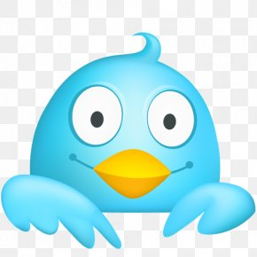 Cute Twitter Icon - Social Media Twitter Favicon Icon Design PNG