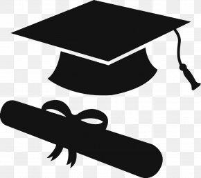 Silhouette - Graduation Ceremony Square Academic Cap Silhouette Clip Art PNG