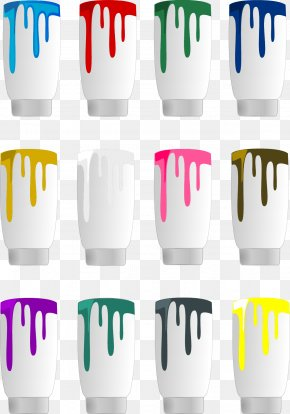 Vector Paint Bucket - Drip Painting Color Clip Art PNG