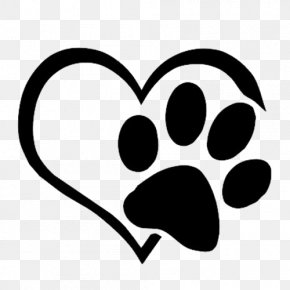 Love Paws - Dog Cat Paw Decal Sticker PNG