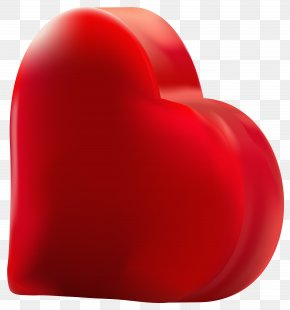 Red Heart Transparent Clip Art Image - Clip Art PNG