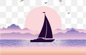 Sea Sailing Vector - Euclidean Vector Sea Illustration PNG