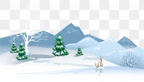 Winter Ground With Snow Clipart Image - Snow Santa Claus Winter Clip Art PNG