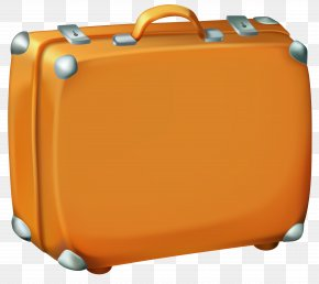 Brown Suitcase Clipart Image - Suitcase Checked Baggage Travel Clip Art PNG