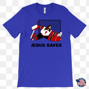 Jesus Saves - T-shirt Clothing Crew Neck Sleeve PNG