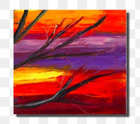 Canvas Print - Acrylic Paint Modern Art Painting Visual Arts PNG