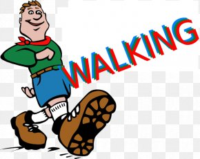 Cartoon Sneakers Cliparts - Hiking Backpacking Camping Clip Art PNG