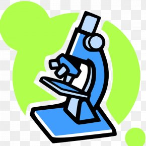 Green Painted Microscope - Optical Microscope Clip Art PNG