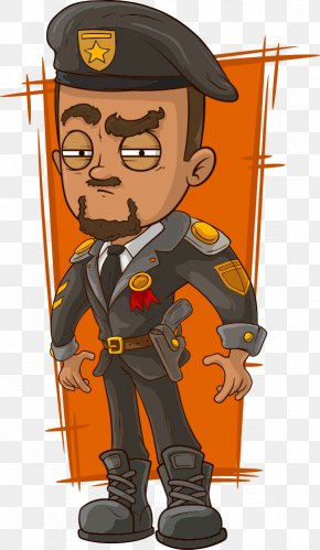 Vector Police - Cartoon General Of The Army Army General PNG