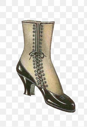 Boot - Fashion Boot Shoe Vintage Clothing Clip Art PNG