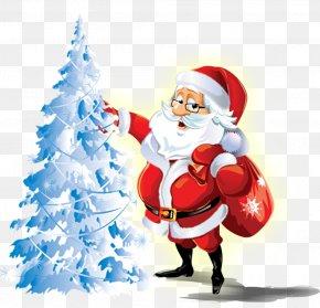 Santa Claus Decorating Christmas Tree - FIFA 17 Santa Claus Christmas 25 December Gift PNG