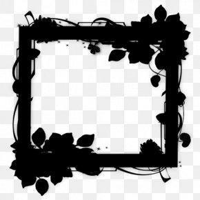 Interior Design Picture Frame - Black Background Frame PNG
