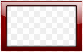 Red Border Frame Transparent - Board Game Red Area Pattern PNG