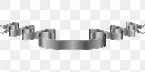 Gray Ribbon - Ribbon Silver Web Banner Clip Art PNG