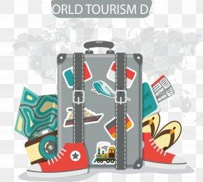 Gray Sense Suitcase - Travel Suitcase World Tourism Day U6613u62c9u5b9d PNG