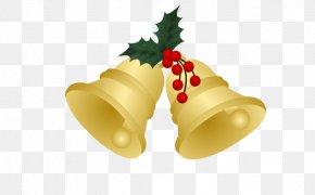 Golden Christmas Bell - Christmas Bell PNG