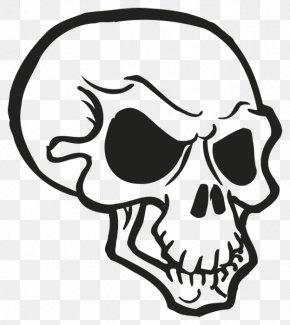 Skull - Skull And Crossbones Jaw Death Clip Art PNG