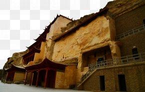 Dunhuang Thousand Buddha Cave - Mogao Caves Zhangye Jiayuguan City Qinghai Lake Jiayu Pass PNG