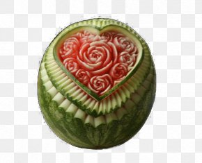 Carved Watermelon - Watermelon Fruit Carving Vegetable Carving PNG