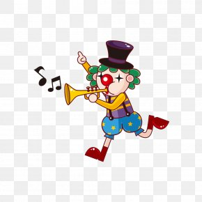 Clown Trumpet - Joker Clown Circus Juggling PNG