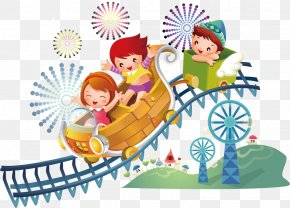 Crazy Rollercoaster - Roller Coaster Amusement Park PNG