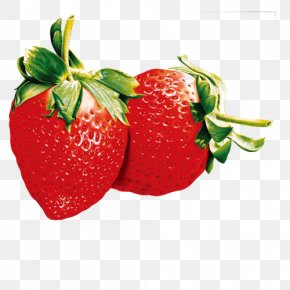 Hand Painted Strawberry Model - Juice Flavor Water Bottle Clip Art PNG