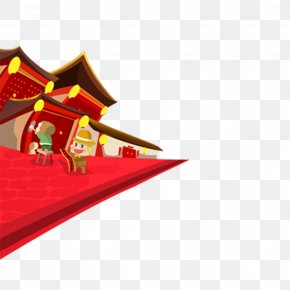 Chinese New Year Festive Holiday Flat Material - Celebrating Chinese New Year Banner Advertising PNG