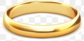 Gold Jewelry Vector - Gold Jewellery Ring PNG