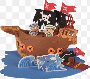 Pirate Ship - Cartoon Piracy PNG