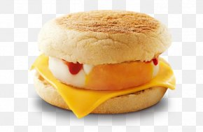 Breakfast - Cheeseburger English Muffin Fast Food McGriddles Breakfast Sandwich PNG