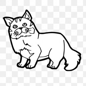 Simple Cat's Nose - Cat Kitten Coloring Book Illustration PNG