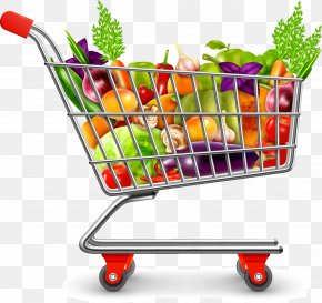 Supermarket Shopping Cart - Icon PNG