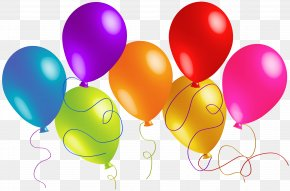 Large Transparent Colorful Balloons Clipart - Balloon Clip Art PNG