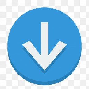 Sign Down - Blue Trademark Symbol Brand PNG