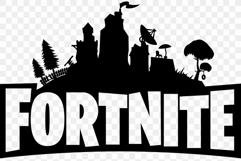 Fortnite Logo, PNG, 5400x3600px, Fortnite, Battle Royale Game, Black And White, Brand, Epic Games Download Free