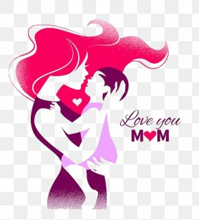 Mom, I Love You - Mother's Day Silhouette Clip Art PNG