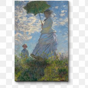 Madame Monet And Her Son Painting Art MuseumPainting - National Gallery Of Art Woman With A Parasol PNG