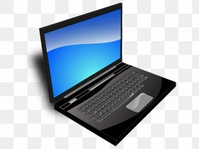 Laptop Computer - Laptop Dell Computer Keyboard Computer Monitors Clip Art PNG