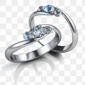 Diamond Ring - Earring Jewellery Diamond Engagement Ring PNG
