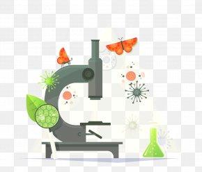 Vector Microscope - Microscope Flat Design Adobe Illustrator PNG