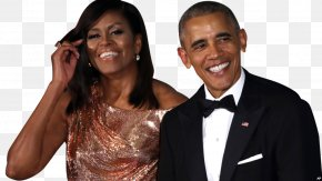 Barack Obama - Barack Obama Michelle Obama White House State Dinner First Lady Of The United States PNG