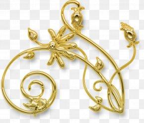 Jewellery - Jewellery Gold Designer PNG