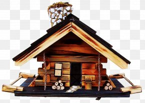 Building Log Cabin - Roof Bird Feeder House Log Cabin Building PNG