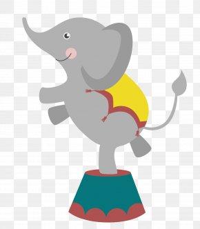 Vector Circus Elephant - Elephant Circus Euclidean Vector PNG